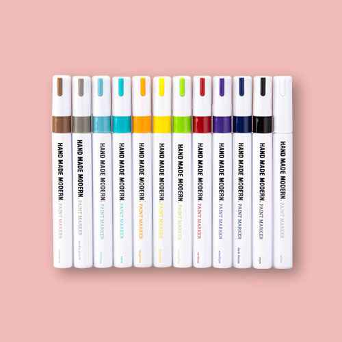12ct Permanent Paint Markers - Hand Made Modern®