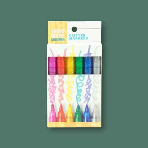 Glitter Markers 6ct - Hand Made Modern®
