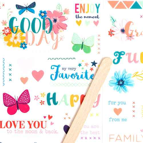 2pg Whimsical Rub-On Transferable Stickers - American Crafts