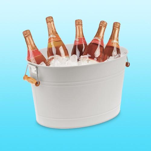 mDesign Metal Beverage Tub & Ice Holder, Cupcake Sparkling Rosé Wine - 750ml Bottle, Yes Way Brut Rosé Sparkling Wine - 750ml Bottle, Barefoot Bubbly Pink Moscato Wine - 750ml Bottle