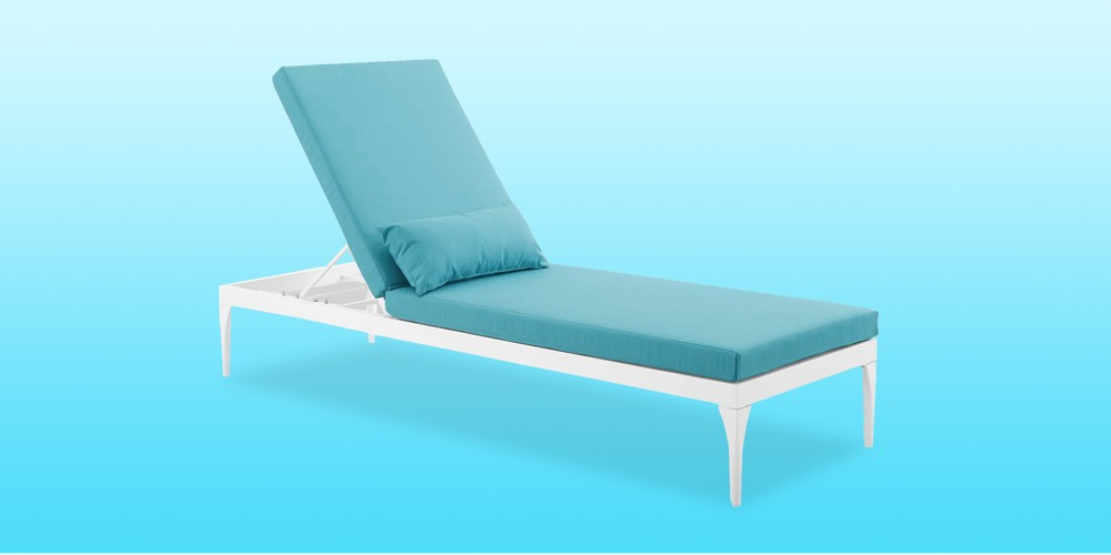 Perspective Outdoor Patio Chaise Lounge Turquoise - Modway