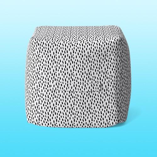 Pouf Beige with Black Dots - Opalhouse™