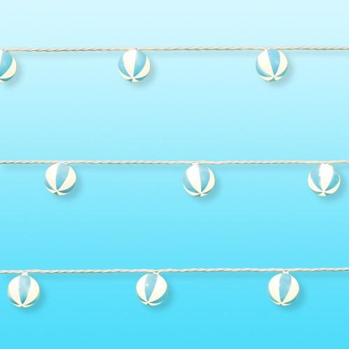 10ct Incandescent Mini Lights with Beach Balls - Sun Squad™