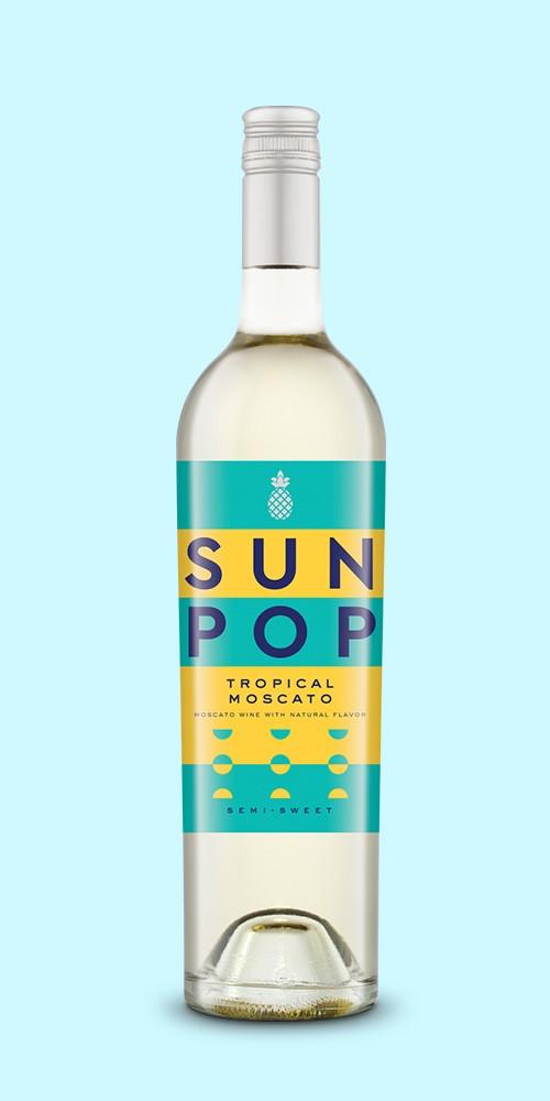 SunPop Tropical Moscato Wine - 750ml Bottle, SunPop Strawberry Moscato Wine - 750ml Bottle, SunPop Peach Moscato Wine - 750ml Bottle, SunPop Alcohol Infused Frozen Cocktails - 12pk/100ml Pouches