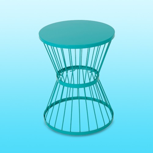 """Lassen 16"""" Iron Patio Side Table - Matte Teal - Christopher Knight Home"""