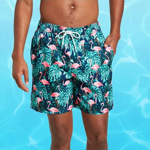"Men's 7"" Proud Flamingo Swim Trunks - Goodfellow & Co™ Blue Grass M"