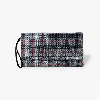 Plaid Quilted Puffer Clutch - A New Day™