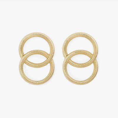 SUGARFIX by BaubleBar Radiant Linked Hoop Earrings - Gold