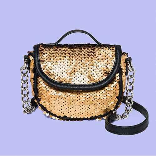 Sequin Mini Crossbody Bag - Wild Fable™ Black/Gold