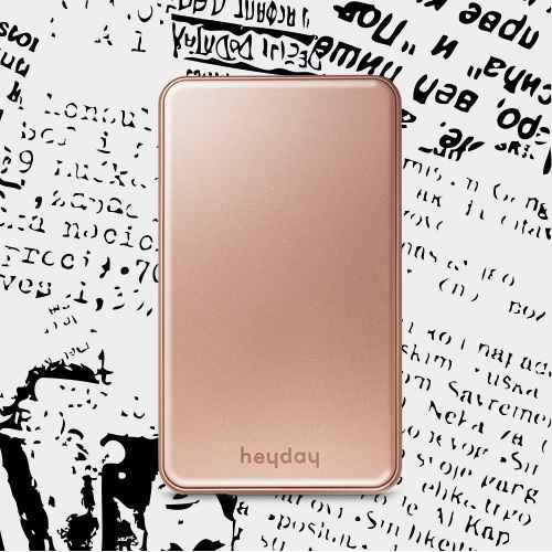 heyday™ 6,000 mAh Power Bank - Gold