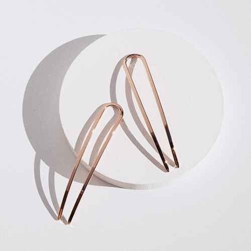 Kristin Ess Mini French Pins - Rose Gold