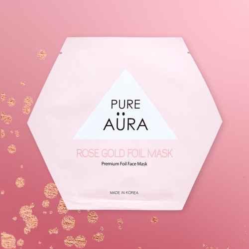 Pure Aura Rose Gold Foil Mask - 0.88 fl oz