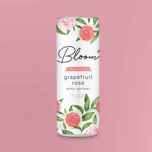 Bloom Grapefruit Rosé Wine Spritzer - 355ml Can, Bloom Wild Berry Wine Spritzer - 355ml Can