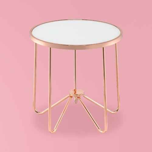 End Table Frosted Rose Gold - Acme Furniture