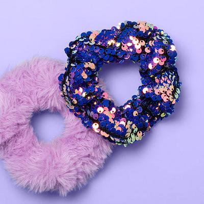 Girls' 2pk Scrunchies - More Than Magic™ Purple