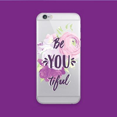 OTM Essentials Apple iPhone 8/7/6/6s Clear Print Case - Be-YOU-tiful