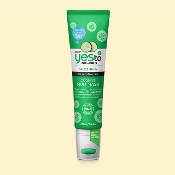 Yes To Cucumbers Cooling Mud Face Mask Tube - 2oz