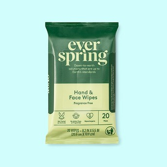 Fragrance Free Hand & Face Wipes - Everspring™