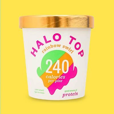 Halo Top Rainbow Swirl Ice Cream - 16oz
