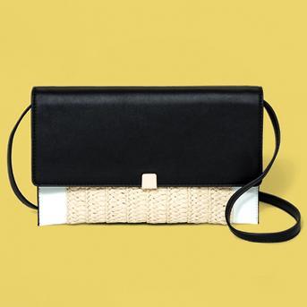 Magnetic Closure Crossbody Bag - A New Day™ Black