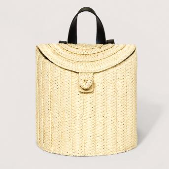 Women's Straw Basket Backpack - A New Day™ Natural