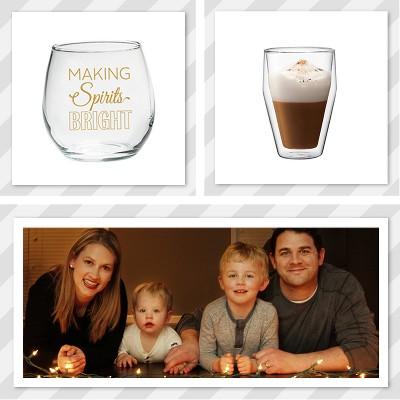 holiday spirit drinking glasses
