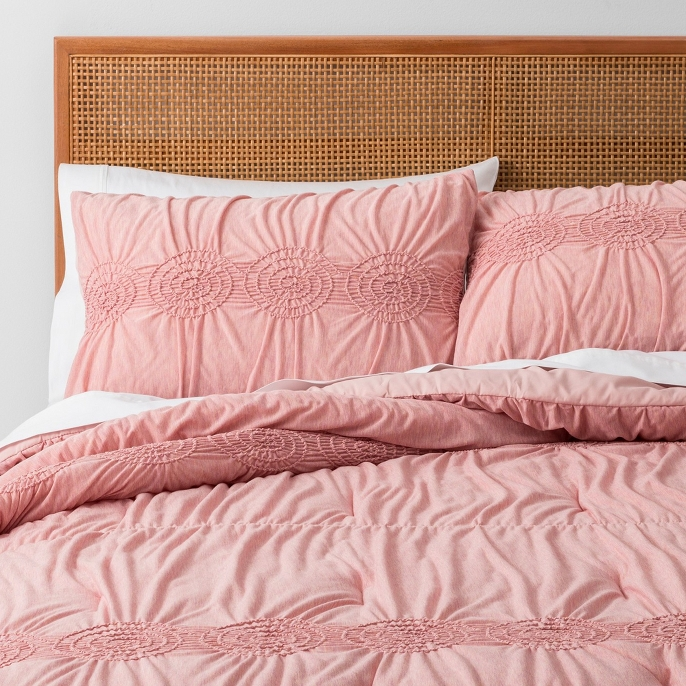 Solid Heather Ruched Jersey Comforter Set - Opalhouse™