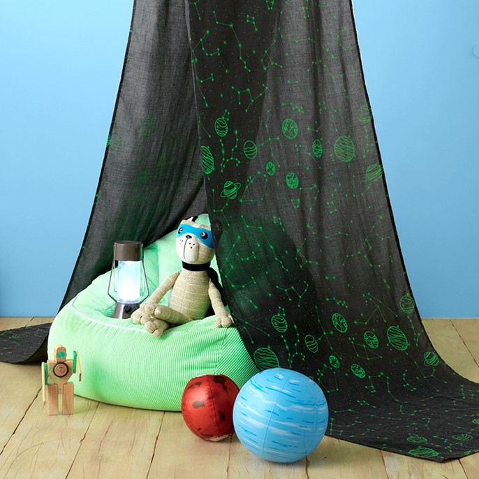 Constellation Glow Bed Tent Gray - Pillowfort™