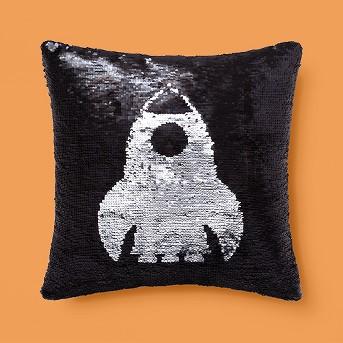 Blast Off Sequins Throw Pillow Pink - Pillowfort™