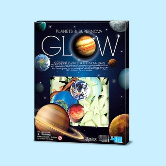 4M Glow-In-The-Dark Planets & Supernova Stars Wall & Ceiling Stick-ons