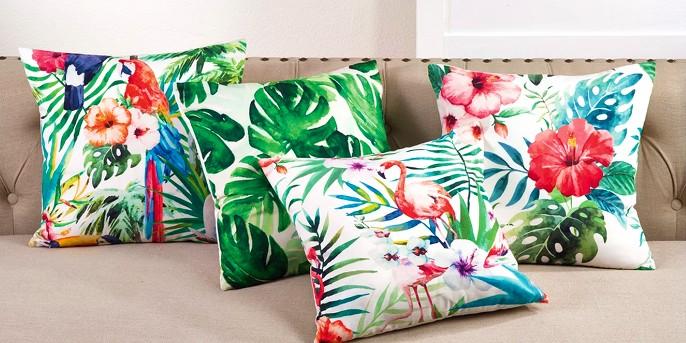 Tropical Parrot Print  Throw Pillow (18