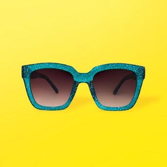 Women's Smoke Sunglasses - Wild Fable™ Turquoise