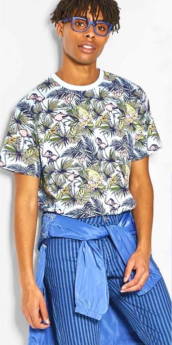 Men's Animal Print Short Sleeve T-Shirt - Original Use™ Floral