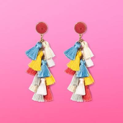 SUGARFIX by BaubleBar Multi-Tassel Drop Earrings