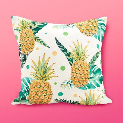 """Saro Lifestyle 18""""x18"""" Pineapple Dot Poly Filled Throw Pillow Yellow"""