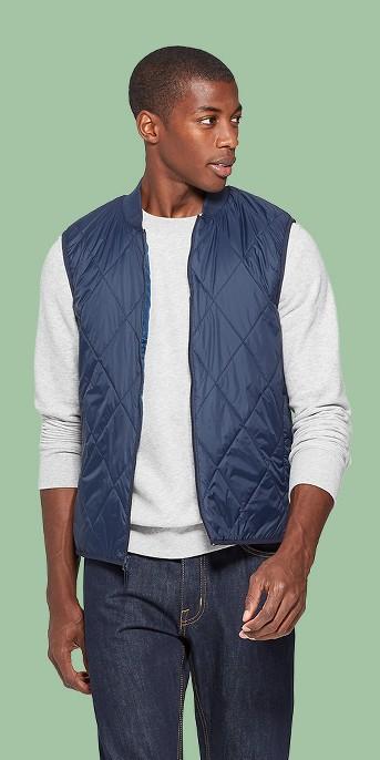 Men's Regular Fit Sleeveless Lightweight Vest - Goodfellow & Co™ Navy