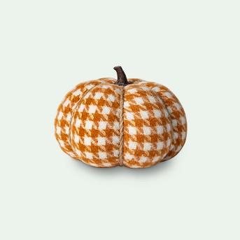 Knit Houndstooth Pumpkin Halloween Decoration Medium - Spritz™