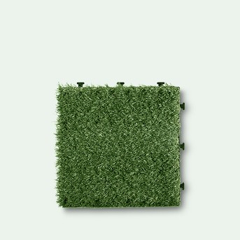 Artificial Grass Deck Tile 6pc Set - Green - Courtyard Casual