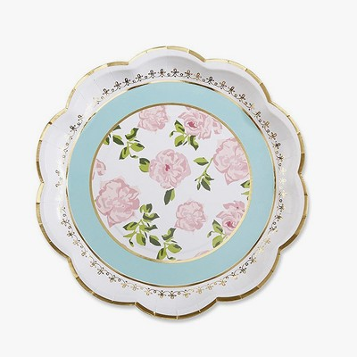 24ct Kate Aspen Tea Time Whimsy Paper Plates