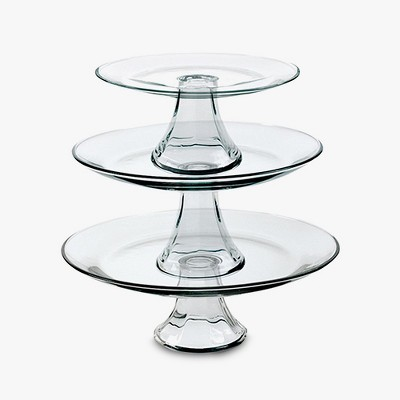 Anchor Hocking Tiered Pedestal Serving Plates - Set of 3