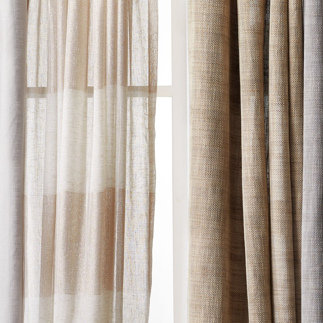 Casual classics that complete any room. Threshold curtains