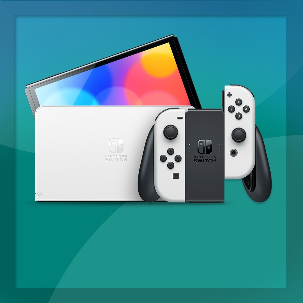 Nintendo Switch - OLED Model with White Joy-Con