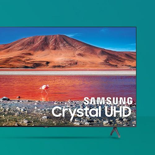 "Samsung 70"" Smart 4K Crystal HDR UHD TV TU7000 Series - Titan Gray"