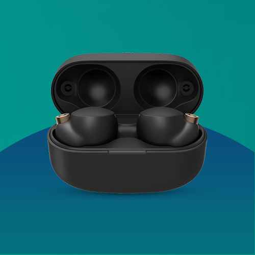Sony WF-1000XM4 Noise-Cancelling True-Wireless Earbuds - Black