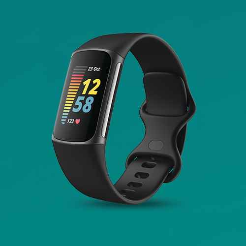 Fitbit Charge 5 Activity Tracker Graphite with Black Band