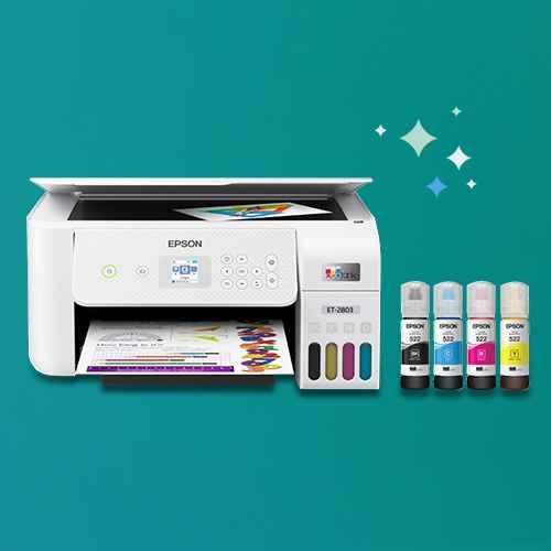 EcoTank ET-2803 Inkjet Printer, Copier, Scanner - White