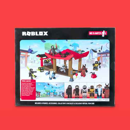 Roblox Action Collection - Ninja Legends Deluxe Playset (Includes Exclusive Virtual Item), Roblox Action Collection - Car Crusher 2: Grandeur Dignity Deluxe Vehicle (Includes Exclusive Virtual Item), Roblox Action Collection - Series 6 Figures 12pk (Roblox Classics) (Includes 12 Exclusive Virtual Items), Roblox Action Collection - 15th Anniversary Legends of Roblox Figures 6pk (Includes 2 Exclusive Virtual Items), Roblox Action Collection - 15th Anniversary Gold Collector's Set Figures 4pk (Includes Exclusive Virtual Item), Roblox Celebrity Collection - Series 4 Figure 12pk (Roblox Classics) (Includes 12 Exclusive Virtual Items), Roblox Celebrity Collection - Pet Show Game Packs (Includes Exclusive Virtual Item), Roblox Action Collection - Dungeon Quest: Fusion Goliath Throwdown Feature Playset (Includes Exclusive Virtual Item)