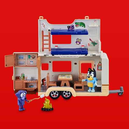 Bluey & Jean Luc's Caravan Adventures Playset