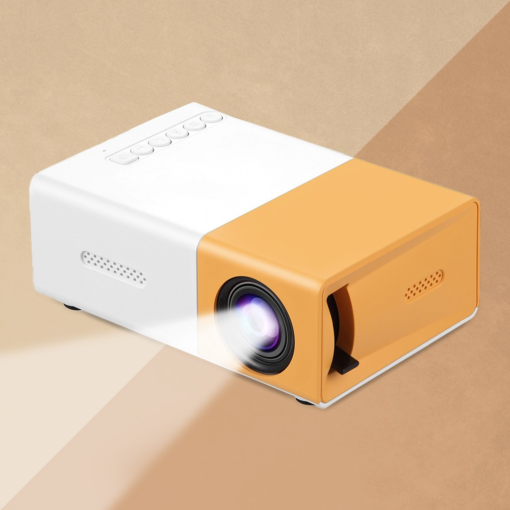 Dartwood HD Mini Projector with Support for HDMI, USB, and Memory SD - Enhance Your Movie, TV, and Gaming Experience