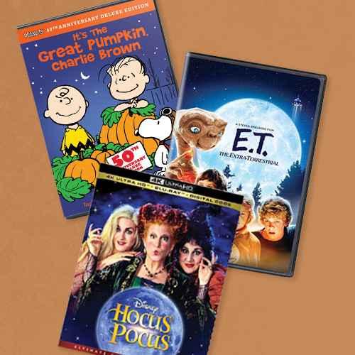 It's the Great Pumpkin, Charlie Brown (4K/UHD)(2017), Et The Extra Terrestrial (DVD), Hocus Pocus